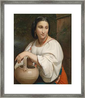 Portrait Of A Young Roman Framed Print by William-Adolphe Bouguereau