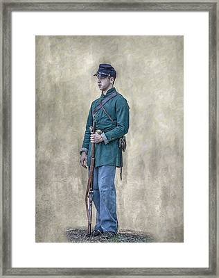 Portrait Of A Young Soldier Of Berdan's Sharpshooters Framed Print