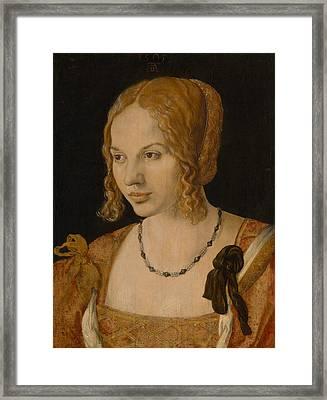 Portrait Of A Young Venetian Woman Framed Print by Albrecht Durer