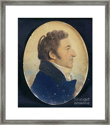 Portrait Of Aaron Rodriguez Rivera Framed Print by Celestial Images