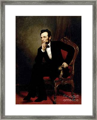 Portrait Of Abraham Lincoln, 1869  Framed Print by George Peter Alexander Healy