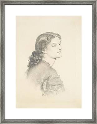 Portrait Of Ada Vernon Framed Print by Dante Gabriel Rossetti