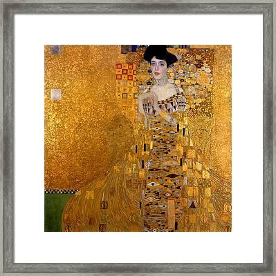 Portrait Of Adele Block-bauer Framed Print by Gustav Klimt