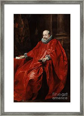 Portrait Of Agostino Pallavicini By Anthony Van Dyck Framed Print by Esoterica Art Agency