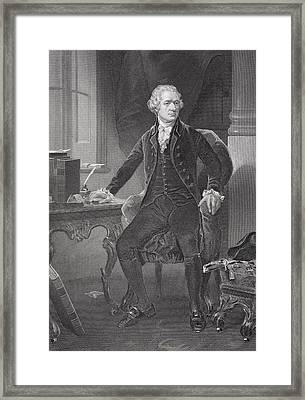 Portrait Of Alexander Hamilton Framed Print by Alonzo Chappel