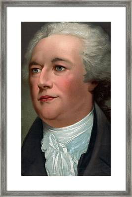 Portrait Of Alexander Hamilton Framed Print by Unknown