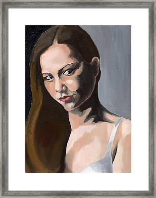 Portrait Of Amanda Framed Print