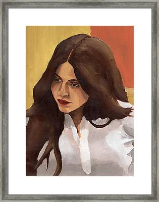 Framed Print featuring the painting Portrait Of Amelia by Stephen Panoushek