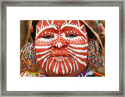 Portrait Of An African Woman Framed Print by Anna Om
