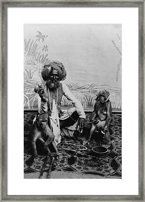 Portrait Of An Indian Fakir Framed Print