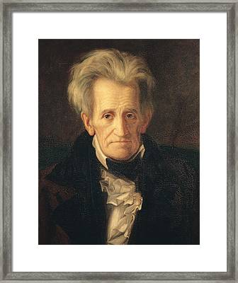 Portrait Of Andrew Jackson Framed Print by George Peter Alexander Healy