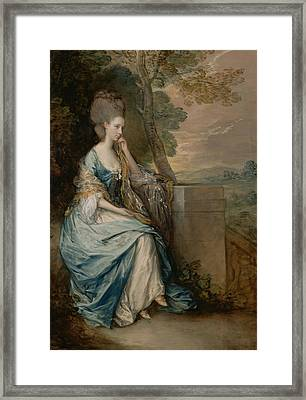 Portrait Of Anne Countess Of Chesterfield Framed Print by Thomas Gainsborough