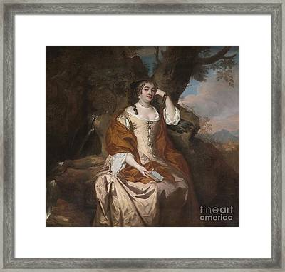 Portrait Of Anne Hyde Duchess Of York Framed Print by Celestial Images