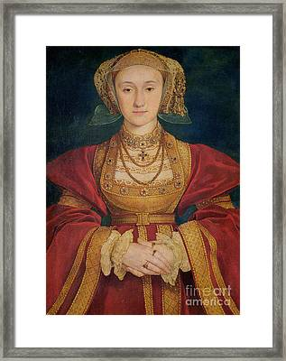 Portrait Of Anne Of Cleves  Framed Print