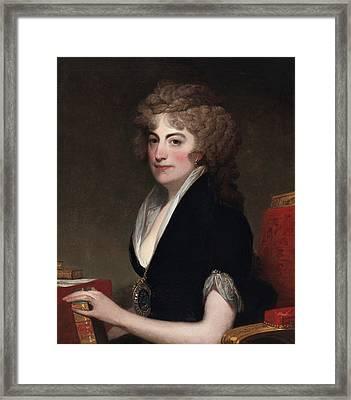 Portrait Of Anne Willing Bingham Framed Print by Gilbert Stuart