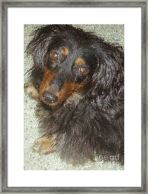 Portrait Of Annie Framed Print by Don Phillips