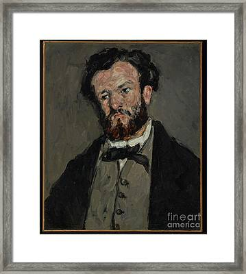 Portrait Of Anthony Valabregue By Paul Cezanne Framed Print by Esoterica Art Agency
