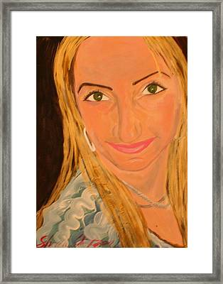 Portrait Of Artists Agnes  Framed Print by Shellie Gustafson