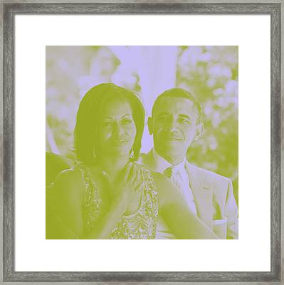 Portrait Of Barack And Michelle Obama Framed Print