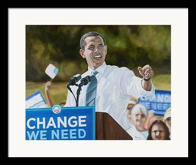 Change We Need Framed Prints