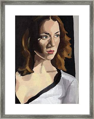Framed Print featuring the painting Portrait Of Becca by Stephen Panoushek
