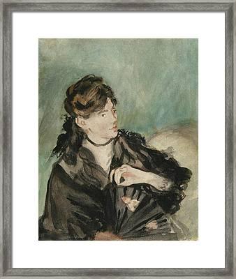 Portrait Of Berthe Morisot Framed Print