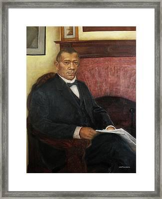 Portrait Of Booker T. Washington Framed Print by Sylvia Castellanos