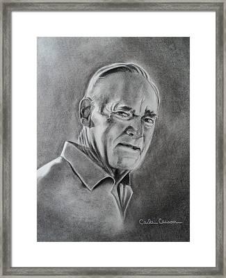Portrait Of Bud Framed Print by Carla Carson