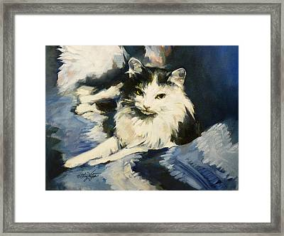 Portrait Of Buffy Detail One Framed Print