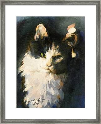 Portrait Of Buffy Detail Three Framed Print