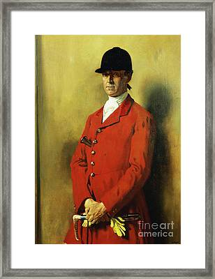 Portrait Of Captain Marshall Roberts, Master Of The Fox Hounds Framed Print by William Orpen