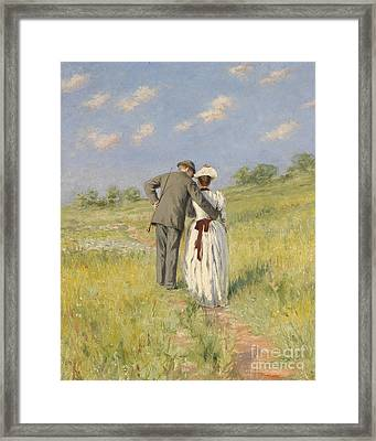 Portrait Of Captain William Holmes And Mary Shafter Mckitterick Framed Print