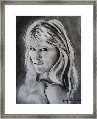 Portrait Of  Carla Framed Print by Carla Carson
