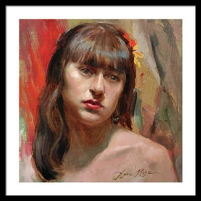 Russian Girl Framed Prints