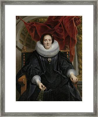 Portrait Of Catharina Behaghel Framed Print by Jacob Jordaens