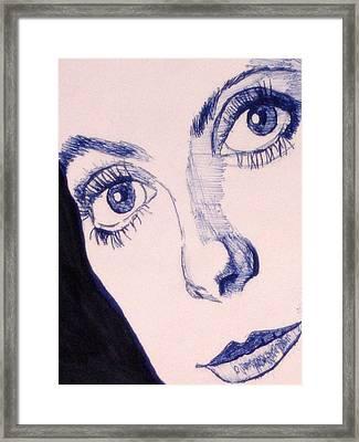 Portrait Of Catherine Close Up Details Framed Print