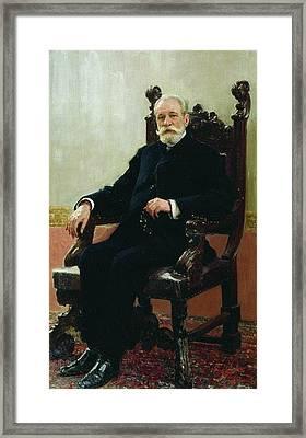 Portrait Of Chairman Azov Do Framed Print