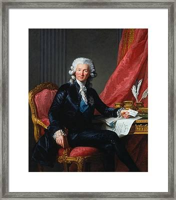 Portrait Of Charles-alexandre De Calonne Framed Print by Louise Elisabeth Vigee Le Brun