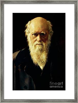 Portrait Of Charles Darwin, 1883  Framed Print
