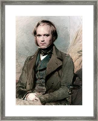 Portrait Of Charles Darwin Framed Print by George Richmond