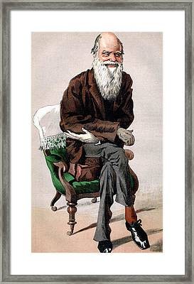 Portrait Of Charles Darwin Framed Print by James Jacques Joseph Tissot
