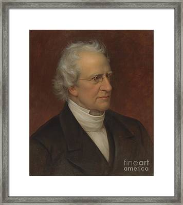 Portrait Of Charles Hodge Framed Print by Rembrandt Peale