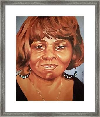 Portrait Of Chelsea Batty Framed Print