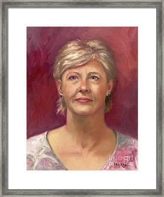 Portrait Of Cheryl Framed Print by Terri  Meyer