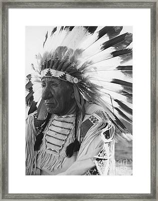 Portrait Of Chief Red Cloud Framed Print by Stocktrek Images