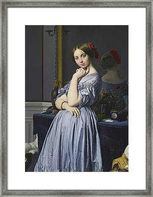 Portrait Of Comtesse D'haussonville Framed Print by Jean-Auguste-Dominique Ingres