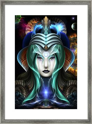Portrait Of Cyiria Framed Print