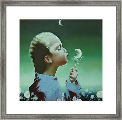 Portrait Of Daughter Framed Print by Andrej Vystropov