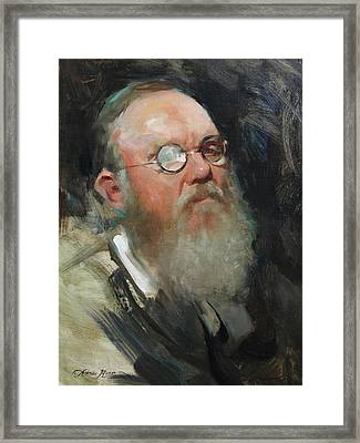 Portrait Of Dave Framed Print by Anna Rose Bain