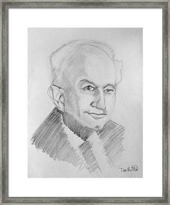 Portrait Of Dr. Ernest Holmes Framed Print